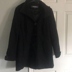 Button up women's pea coat